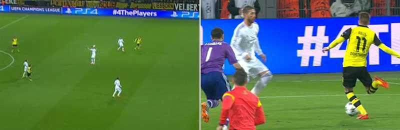 Pepes hemåtnick gav Dortmund ledningen.