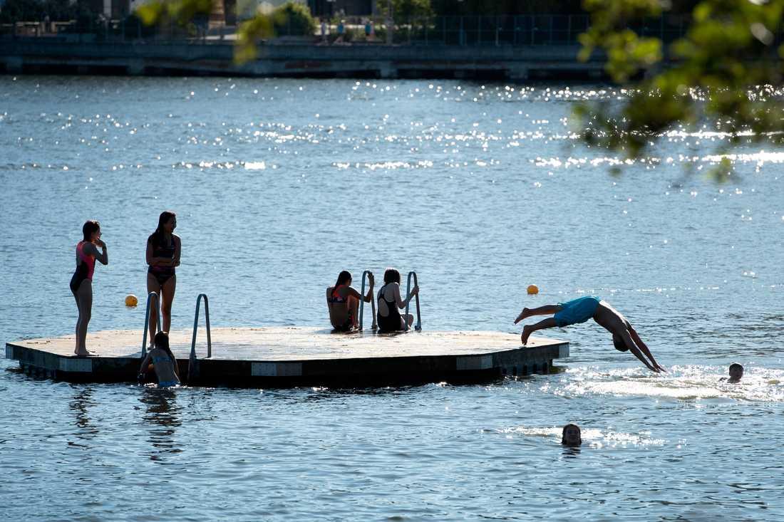 Allt fler sjöar drabbas av farliga bakterier som gör vattnet otjänligt för bad. Arkivbild.