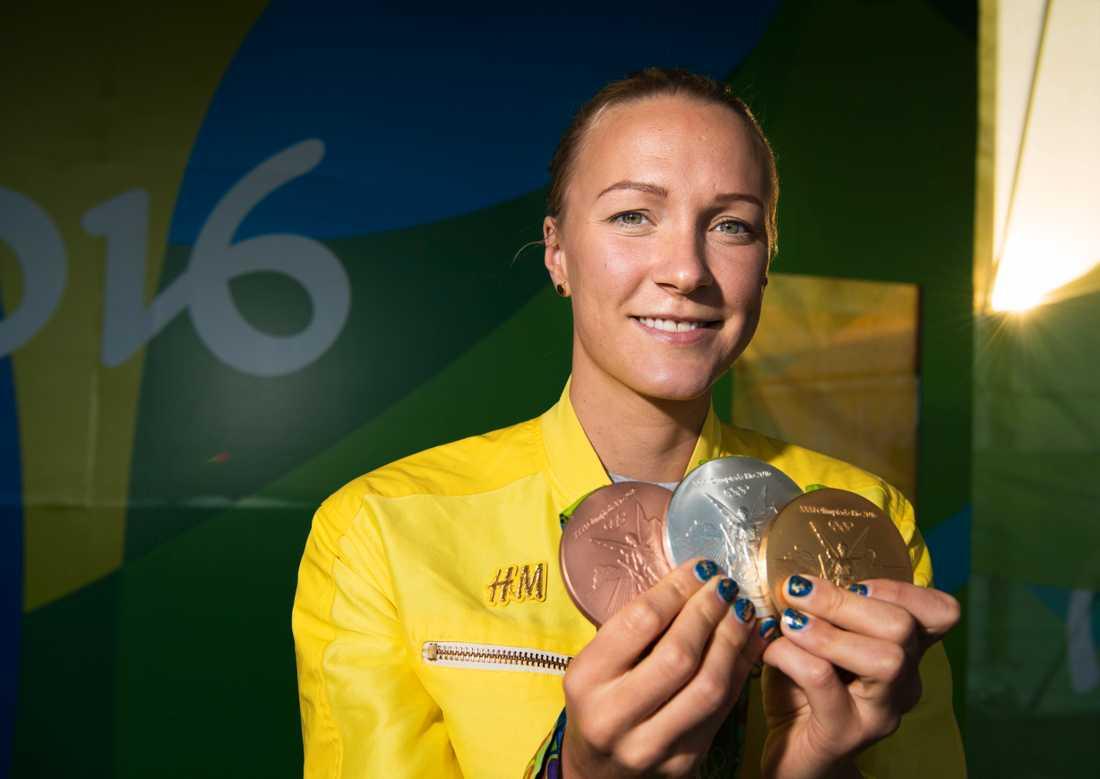 Sarah Sjöströms medaljskörd vid förra OS. Fler nu?