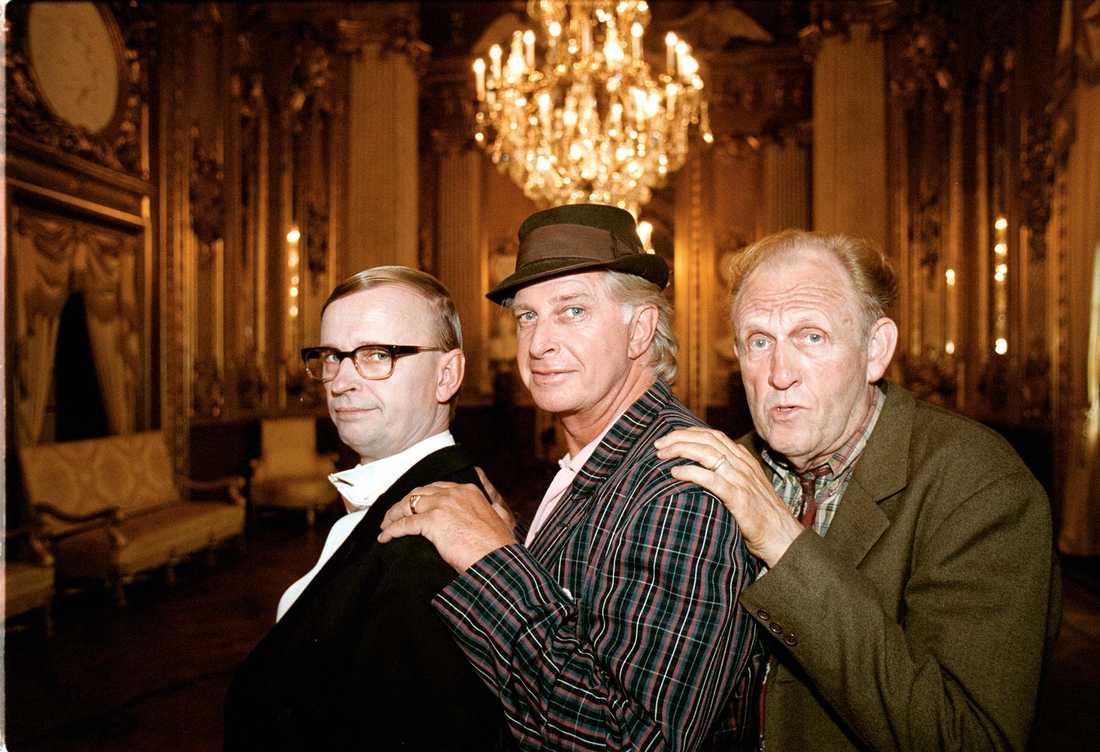 Johan Ulveson, Ulf Brunnberg och Björn Gustafson som Jönssonligan i filmen Jönssonligan spelar högt från 2000.