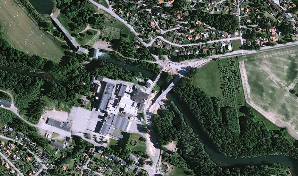 I det här området i Ljungsbro inträffade under natten till lördag ett grovt våldsbrott.