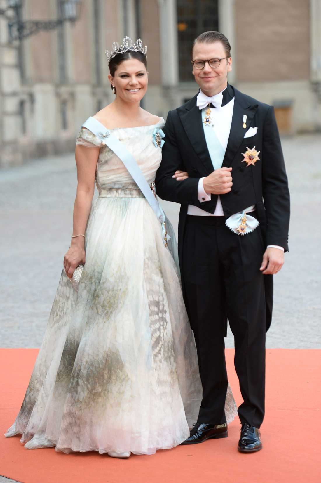 Kronprinsessan Victoria med prins Daniel.