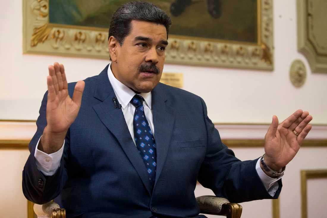 Venezuelas president Nicolás Maduro. Bild från februari i år.