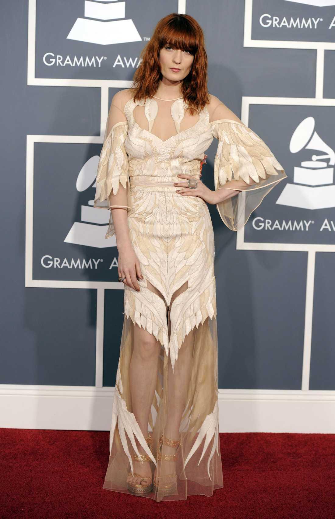 Florence Welch från Florence the Machine var riktigt elegant i klänning från Givenchy.