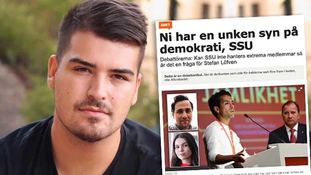 Försöket att kritisera SSU för att vara odemokratiskt kan enbart tolkas som svartmålning från MUF:s sida, skriver debattören.