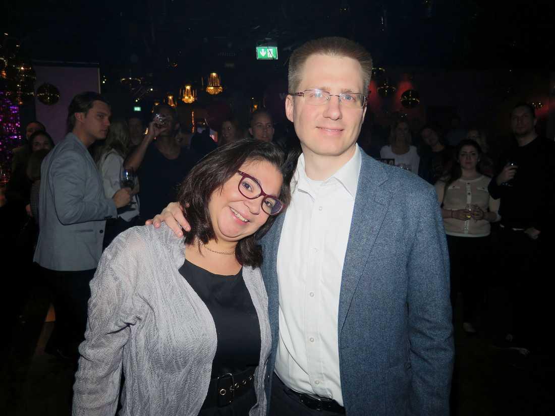 Tore Kullgren tillsammans med dejten Nina Andersson.