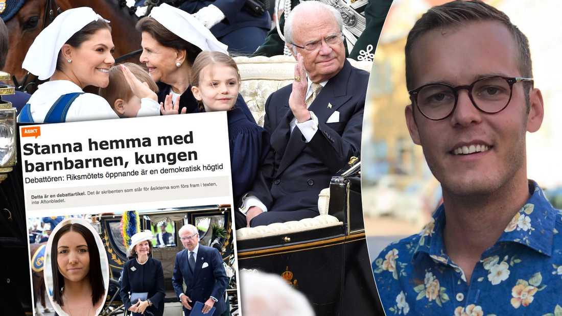 Vi har demokratiskt, genom Sveriges riksdag, beslutat att vi även fortsättningsvis skall vara en monarki, skriver Eric Dicksson.