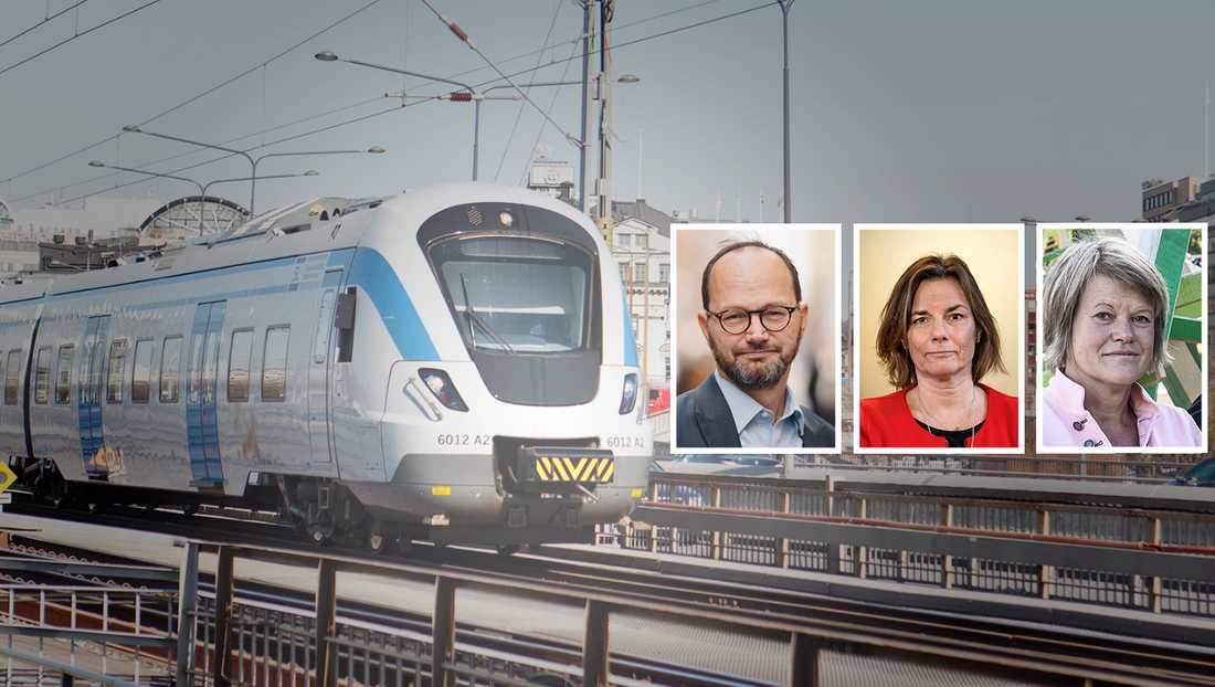 För att säkerställa att de kraftigt ökade resurserna för järnvägsunderhåll används optimalt ser vi behov av att också öka den statliga styrningen, skriver Tomas Eneroth, Isabella Lövin och Ulla Andersson.