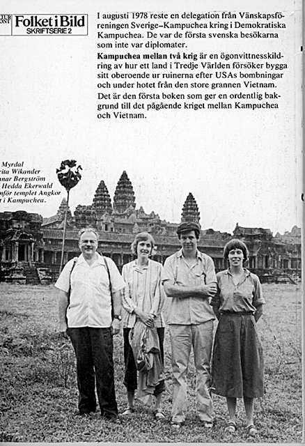 """Omslag och baksida till """"Kampuchea mellan två krig"""" från 1979, den reserapport som Peter Fröberg Idlings nya bok """"Pol Pots leende"""" kretsar kring."""