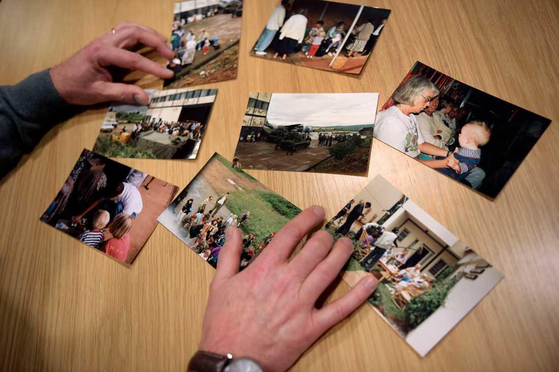 Dag Bohlin har bilder kvar från tiden när folkmordet i Rwanda började för 25 år sedan.