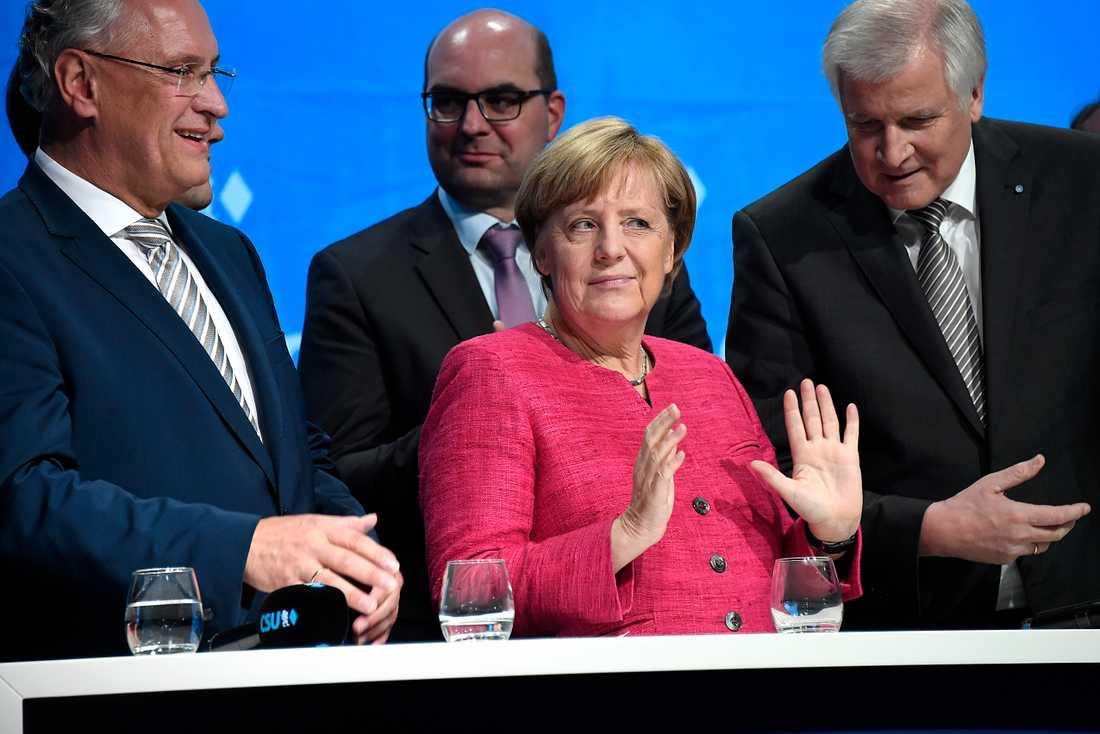 Angela Merkels sista kampanjmöte inför valet.