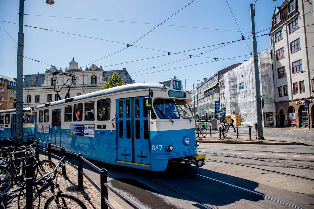 Det blir inget skyddsstopp för spårvagnstrafiken i Göteborg i eftermiddag, sedan facket och arbetsgivaren kommit överens om åtgärder. Arkivbild.