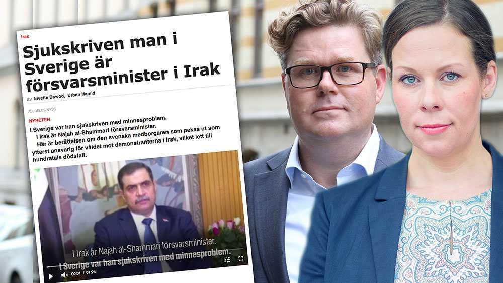 Fallet med irakiske försvarsministern är minst sagt anmärkningsvärt. En utländsk minister – som är svensk medborgare – utreds av svensk polis för brott mot mänskligheten och bidragsbrott. Fallet visar tyvärr på allvarliga strukturella brister i de svenska systemen, skriver  Gunnar Strömmer och Maria Malmer Stenergard (M).