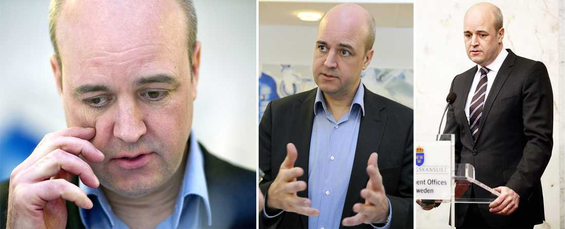 2012 Det har varit tuffa år för Fredrik Reinfeldt med Moderaterna som backar och dessutom en separation från sin fru Filippa Reinfeldt.