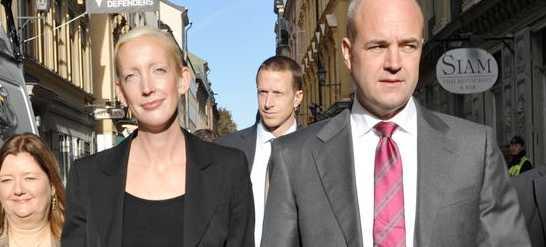 Sofia Arkelsten med statsminister Fredrik Reinfeldt.