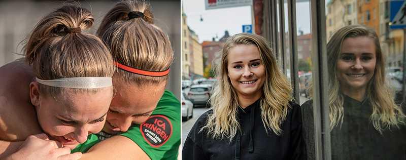 Hammarbys Emma Jansson och Cathrine Dahlström.