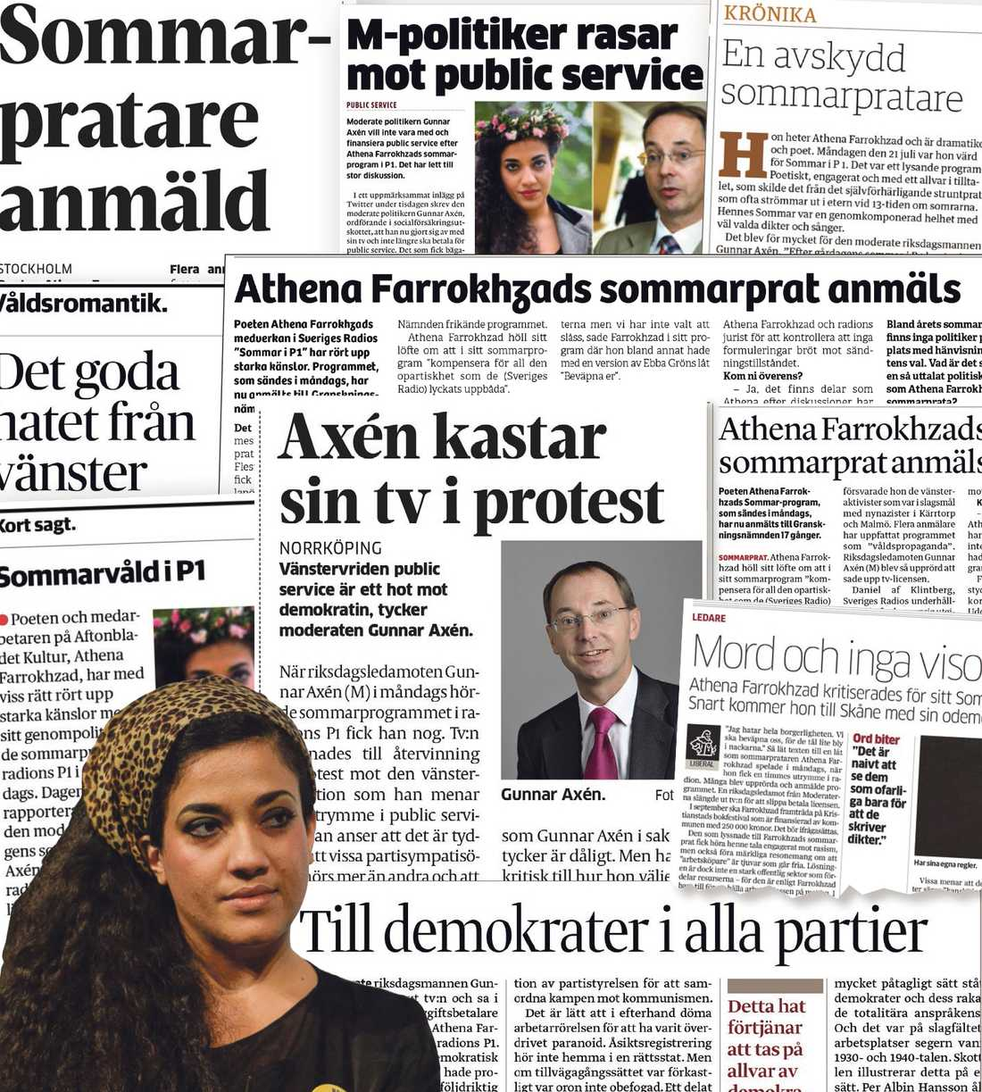 Omdebatterad Sommarpratet fick mycket stark kritik av borgerliga ledarsidor och politiker. Foto: Vilhelm Stokstad/TT.