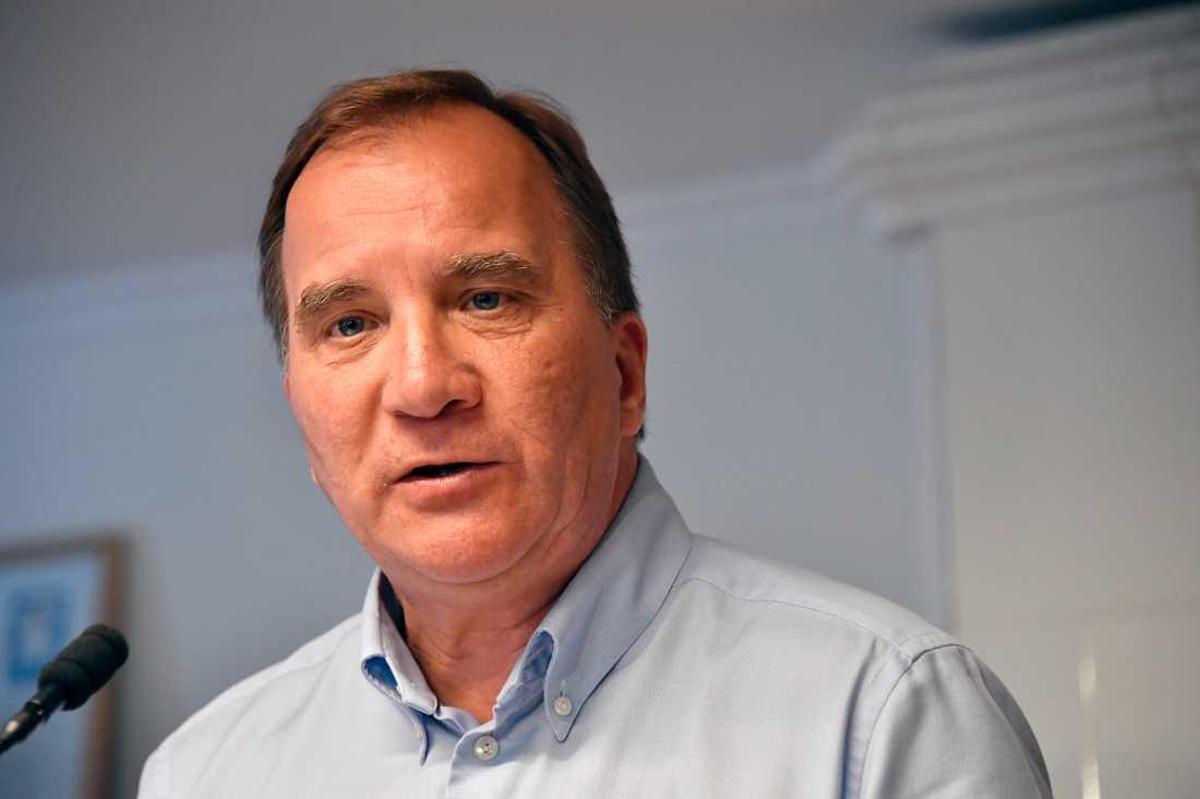 Statsminister Stefan Löfven på sommarturné genom Sverige.