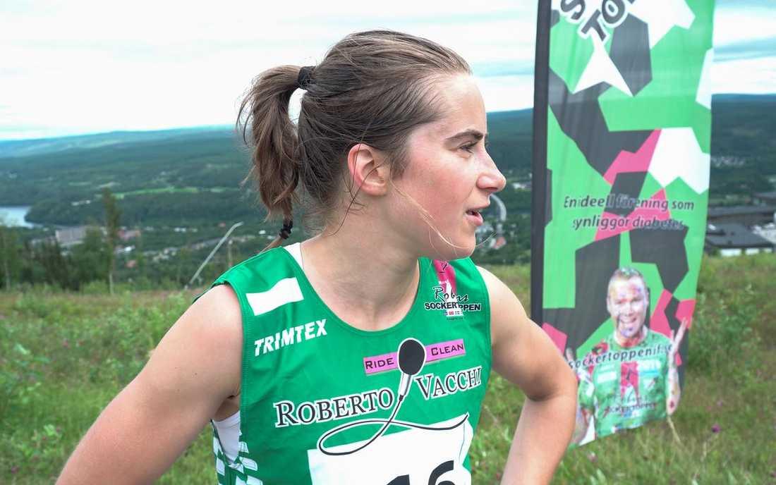 """Ebba Andersson vann loppet """"Från botten till sockertoppen"""" på rekordtid."""