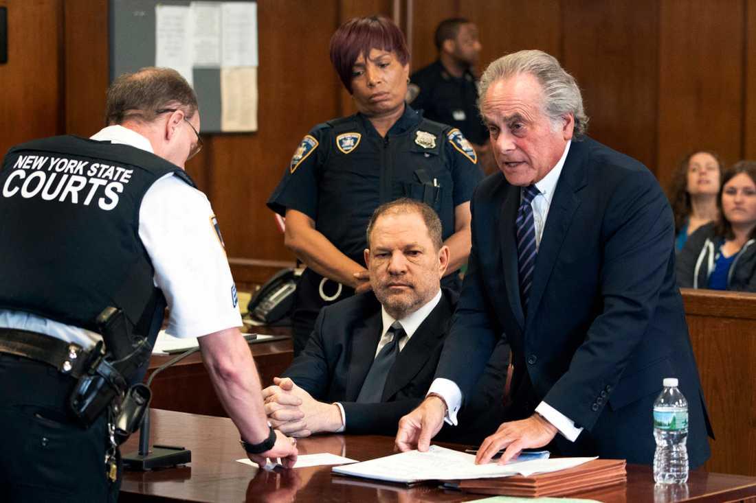 Weinstein i rättegångssalen.