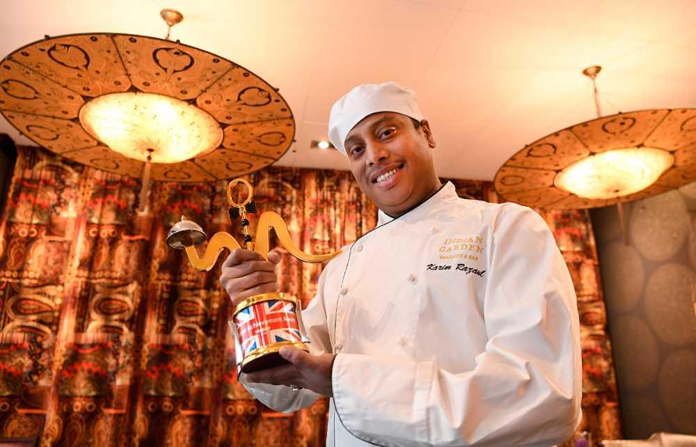 Kocken Karim Rezaul driver restaurangkedjan Indian garden.