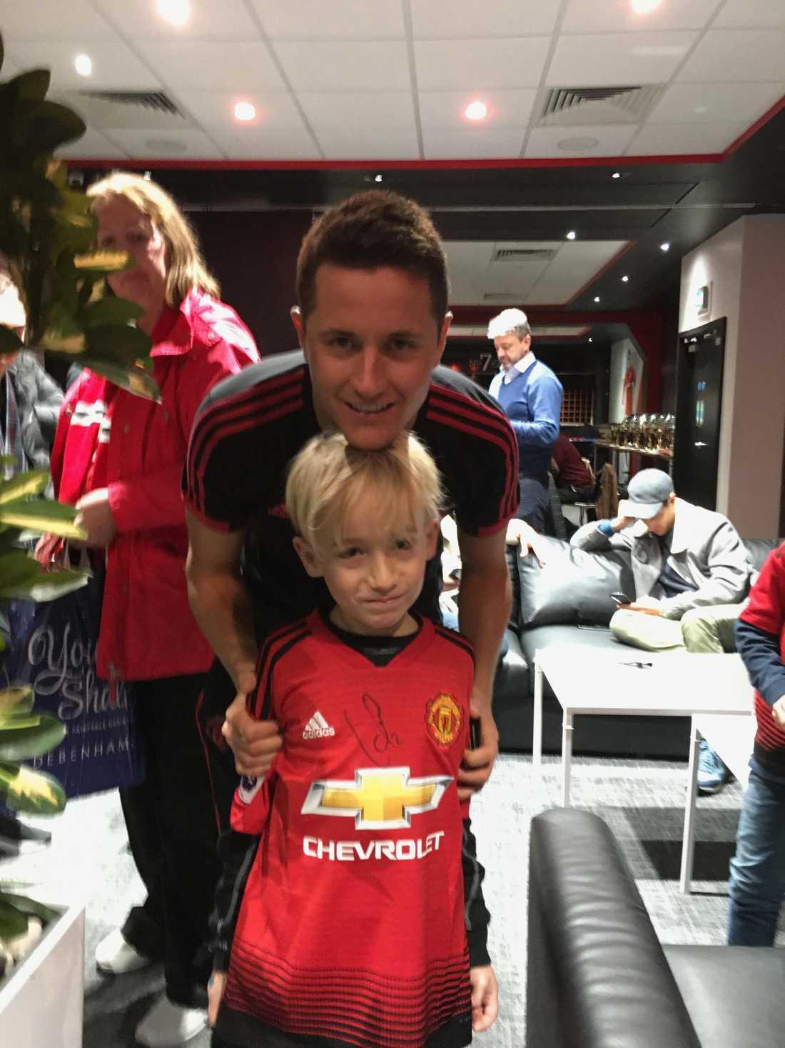 Noah tillsammans med Ander Herrera