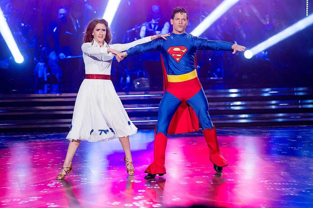 """I senaste säsongen av """"Let's dance"""" dansade Jeanette Carlsson med Nassim Al Fakir"""