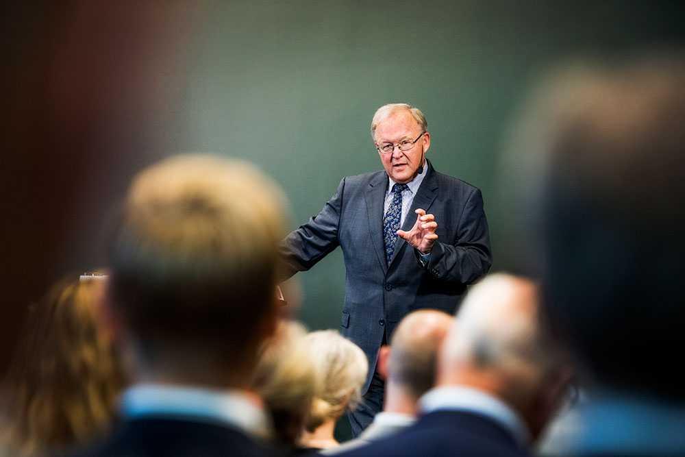 Göran Persson deltog i ett seminarium om brexit i Stockholm under onsdagen.