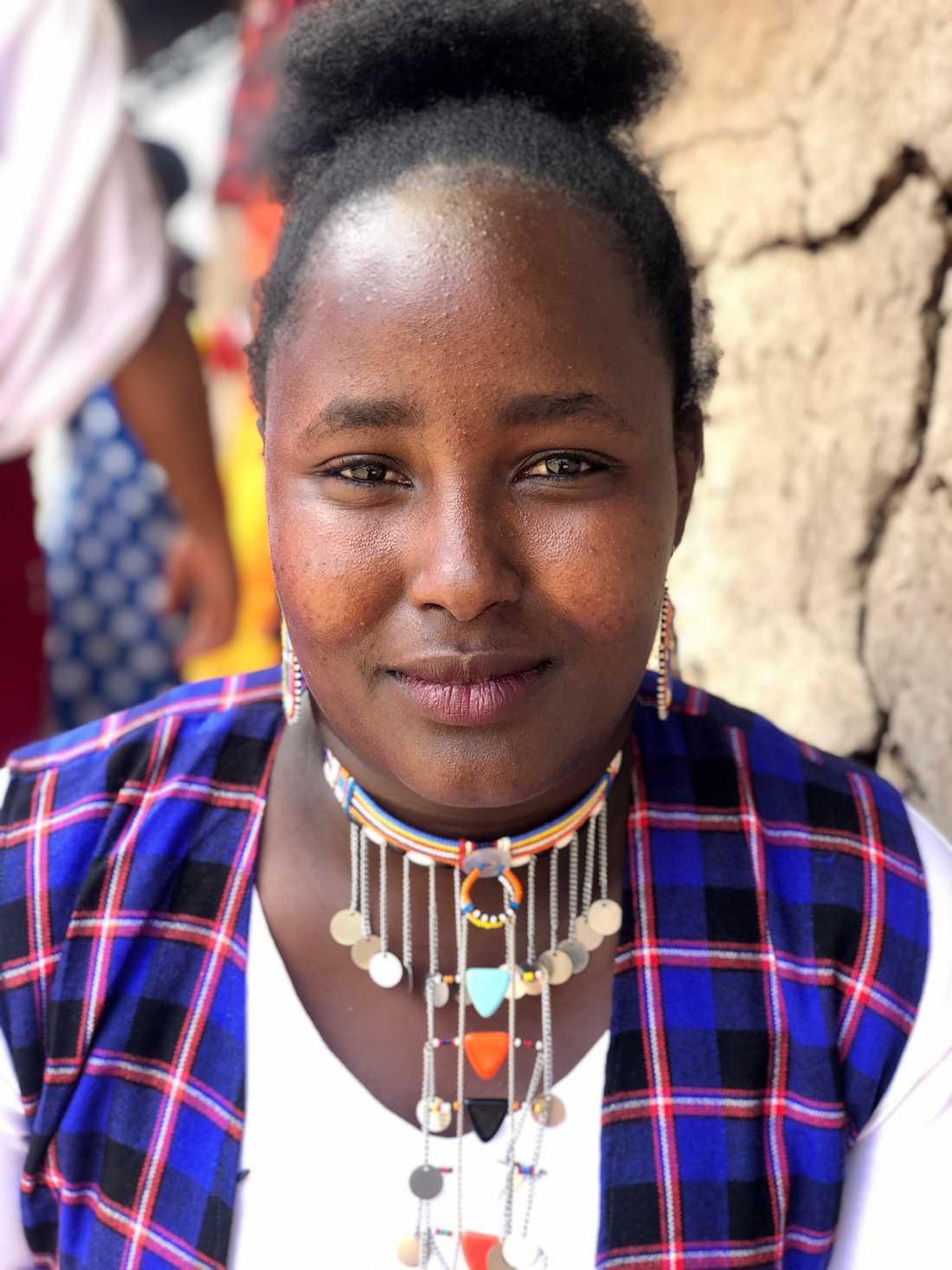 """Faith Nkeeyian Saitoti var elva år när hon bless könsstympad av sin mormor. """"Jag anklagar henne inte, för hon visste inte att det var fel."""""""