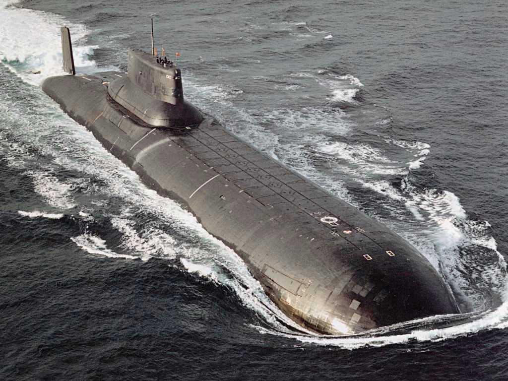 Ryska Typhoon-ubåten Dimitrij Donskoj.