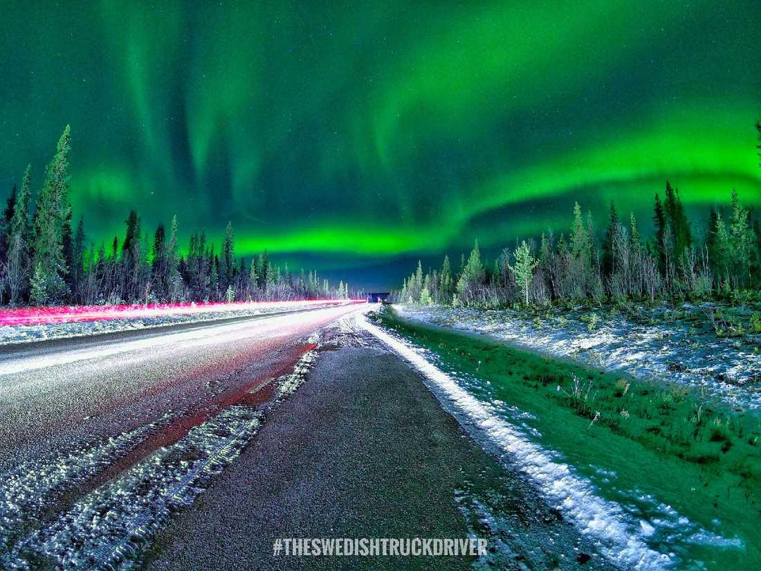 En annan bild tagen precis utanför Kiruna.