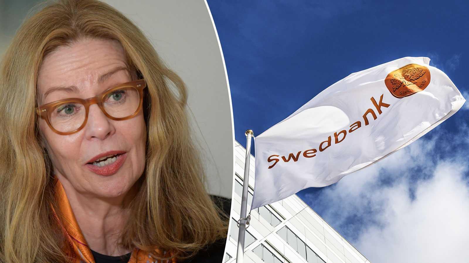 Swedbanks ex-vd Birgitte Bonnesen skrattar hela vägen från banken
