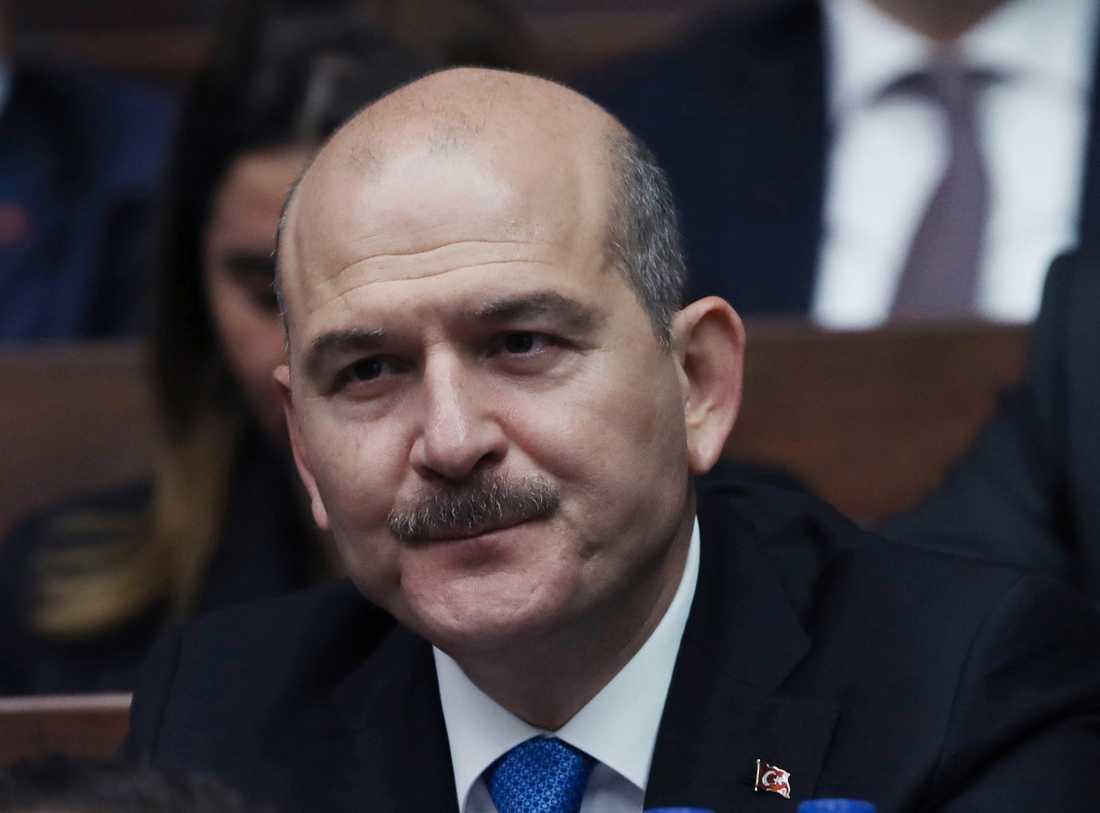 Turkiets inrikesminister Süleyman Soylu. Arkivbild.
