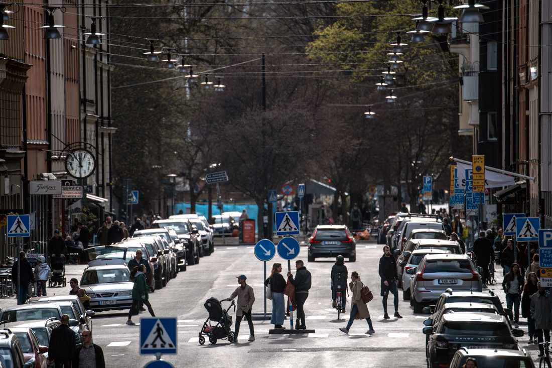Gatuliv på Södermalm i centrala Stockholm.