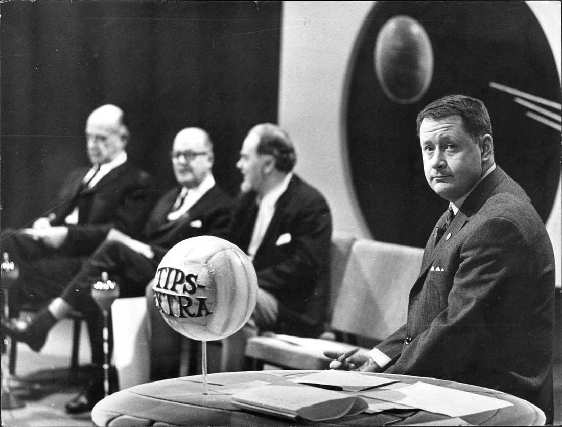 Som programledare för Tipsextra 1969.