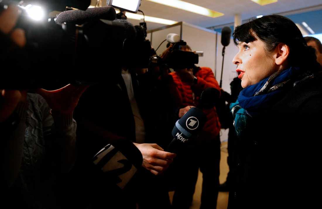 Piratpartiet-ledaren Birgitta Jonsdottir är nöjd med väljarstödet – trots att partiet inte får tillräckligt med stöd för att bilda regering tillsammans med sina allierade.