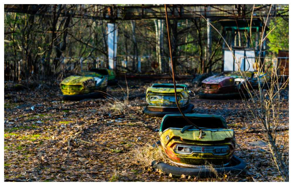 Spökstaden Pripyat.