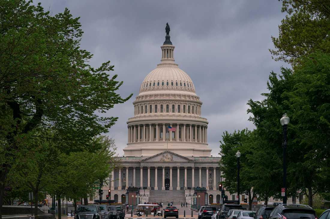 Kongressbyggnaden Capitolium i USA:s huvudstad Washington DC.