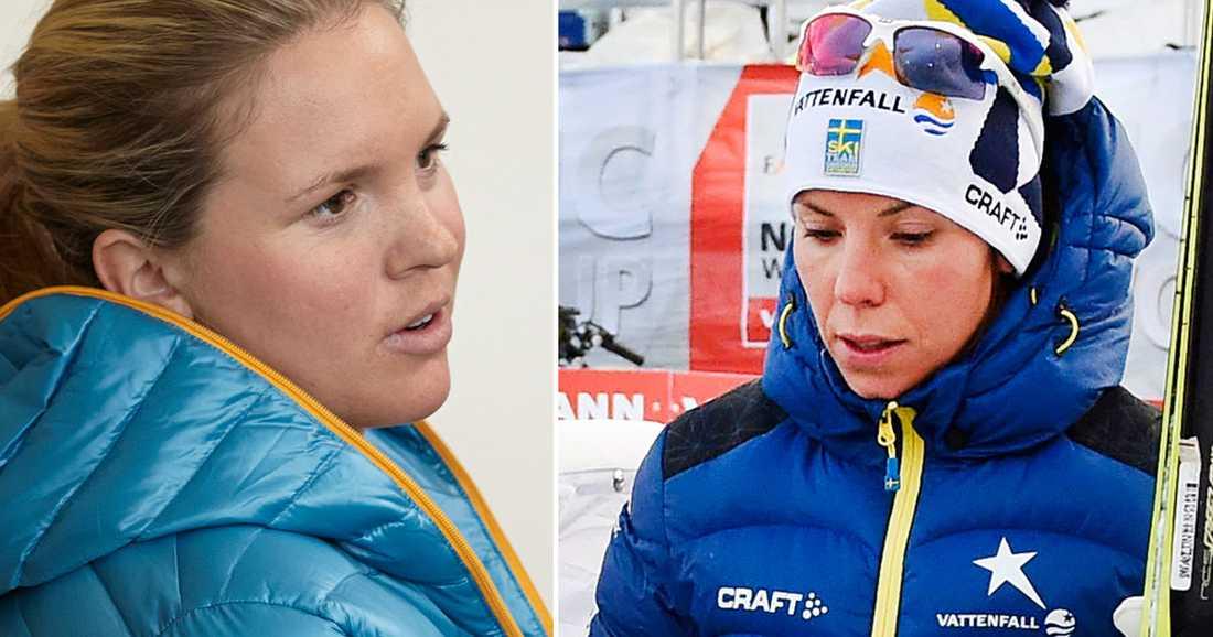 Anja Pärson hade problem med andningsbesvär vid maxpuls.