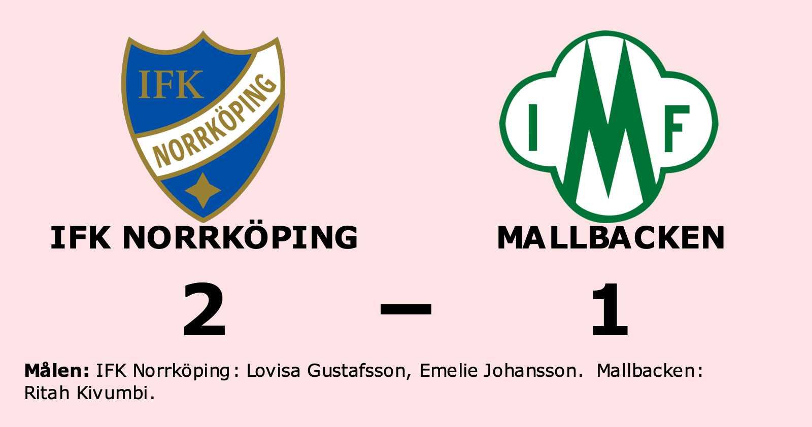 IFK Norrköping avgjorde i andra halvlek mot Mallbacken