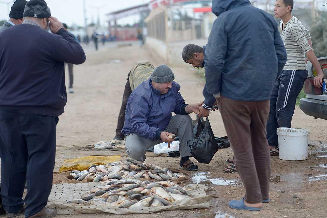 Fiskmarknad i Kilis.