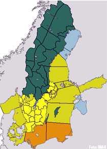 SMHI har utfärdat klass 1- och klass 2-varningar för stora delar av södra Sverige.