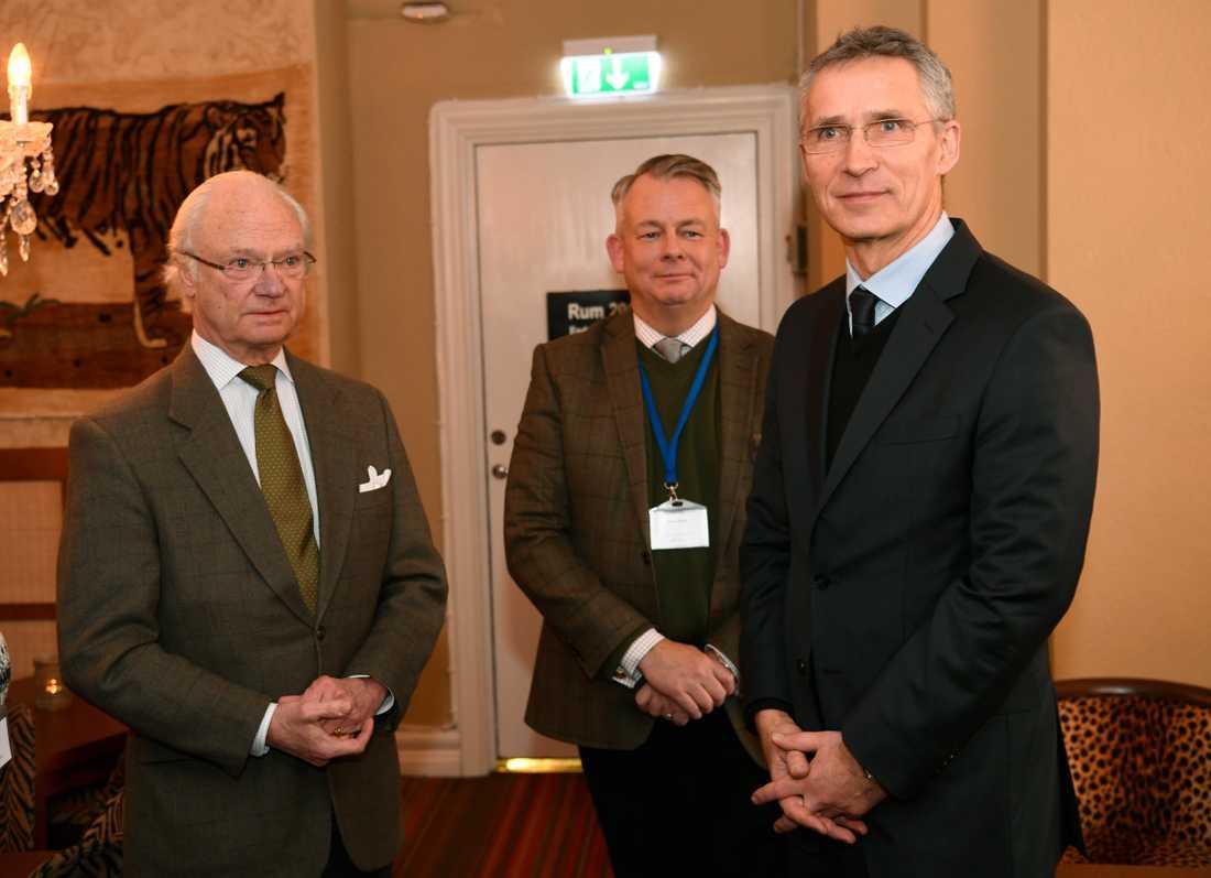 Kungen och Jens Stoltenberg, generalsekreterare i Nato