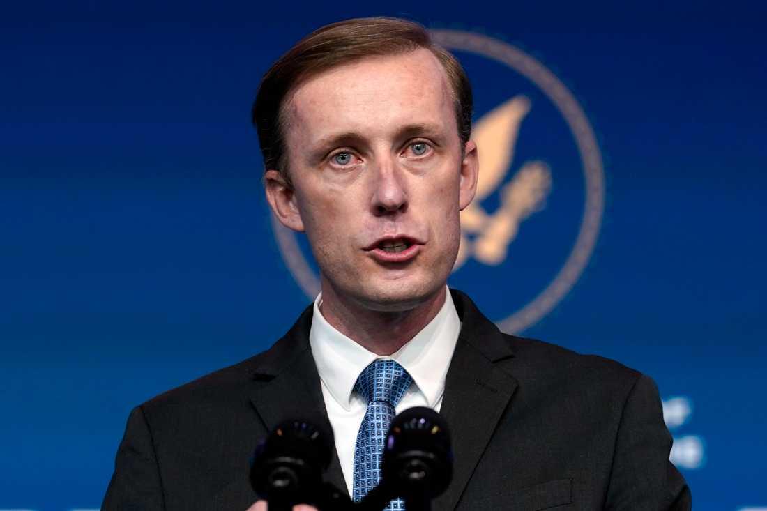 Joe Bidens tilltänkte nationelle säkerhetsrådgivare Jake Sullivan. Arkivbild.