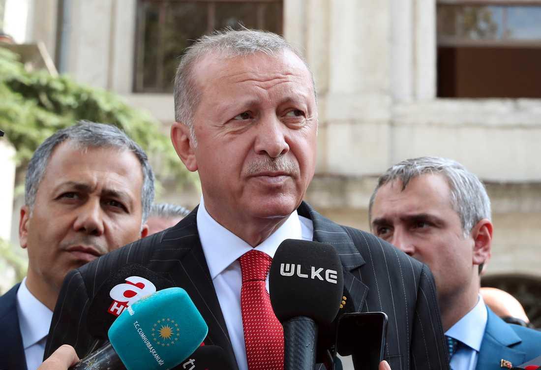 Turkiets president Recep Tayyip Erdogan.