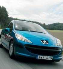 Nykomlingen Peugeot 207.