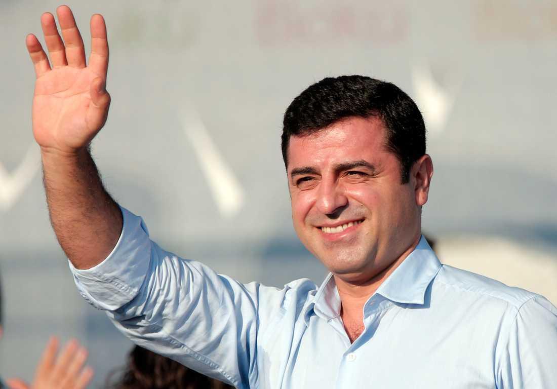 Den turkiske oppositionspolitikern och partiledaren Selahattin Demirtas. Arkivbild.