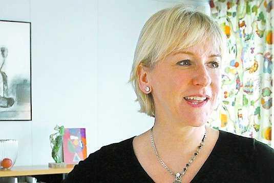 Margot Wallström, EU-kommissionär. Vit norrlänning.