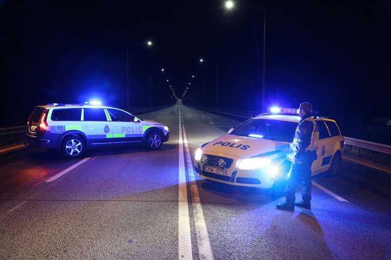 Fick upp spåret Sent i förrgår kväll fick polisen korn på 40-åringen och började kontrollera Ölandsbron.