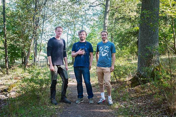 Vid Isbladskärret på södra Djurgården finns det mycket att se, tycker trion.
